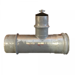 6x6x4 Mainline To Lateral Valve Tee - Ringlock