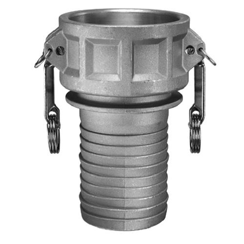 Aluminum female coupler hose shank triple k irrigation