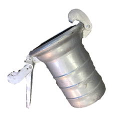 """Bauer Type """"A"""" Style Galvanized Female Socket with Lever x Hose Barb"""
