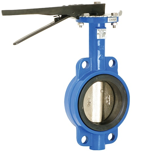 Cast Iron Wafer Style Butterfly Valve Lever Operated
