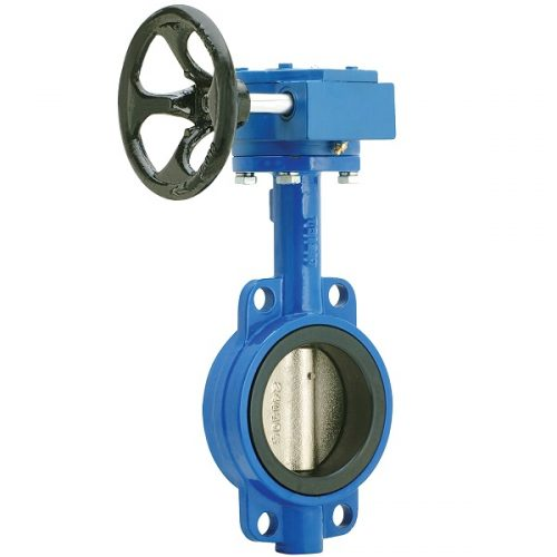 Lever Butterfly Valve : Cast iron wafer style butterfly valve lever operated