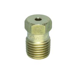 Brass Straight Bore Nozzle 9-64, 9/64 Nozzle, Brass Nozzle