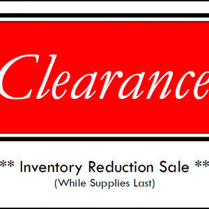 Clearance / Closeouts