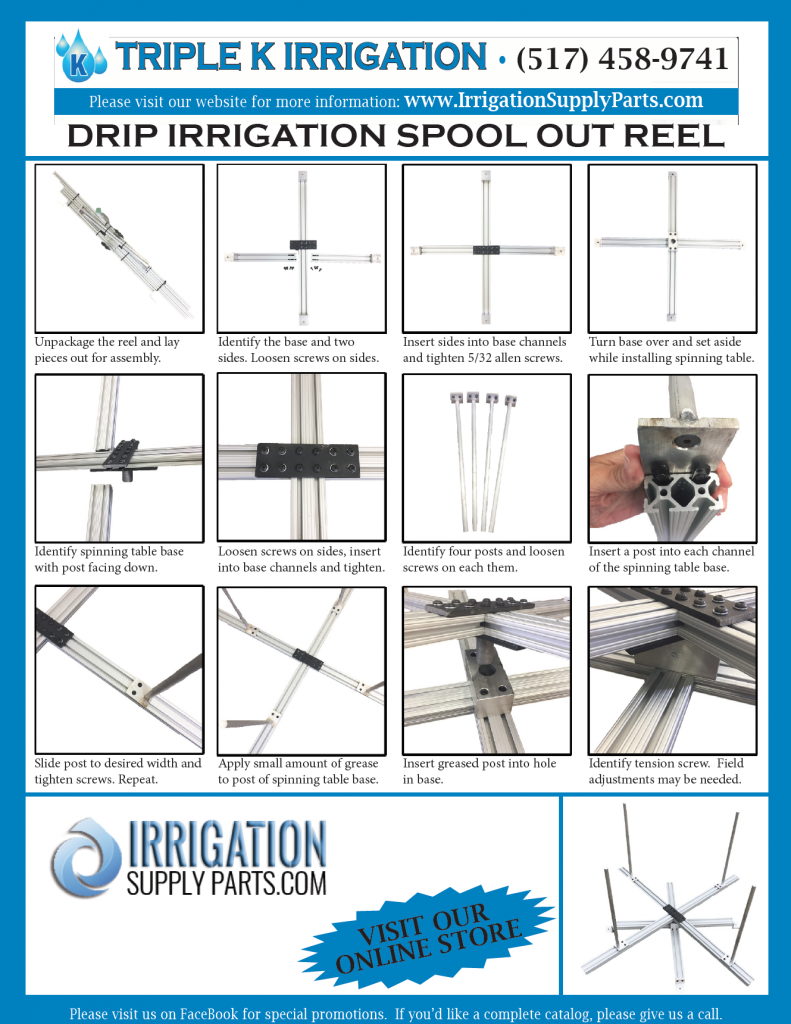 Drip Irrigation Spool Out Reel