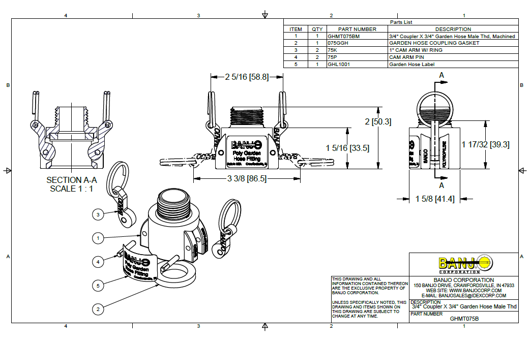 3  4 u2033 coupler x 3  4 u2033 garden hose male thread  part b   u2013 irrigation supplies  parts  fittings