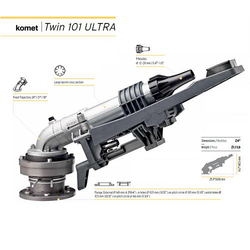 Komet Twin 101 Ultra Pc 24 Degree Trajectory