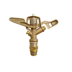 Brass Impact Sprinkler, Wade Rain Full Circle Bronze Sprinkler